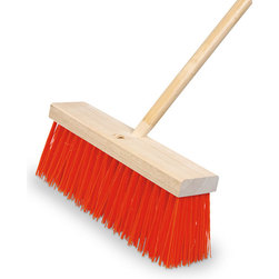 Heavy-Sweeping 16 in. Broom and Handle Set