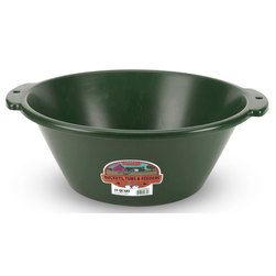 4-1/2-Gallon Plastic Feed Pan - Green