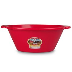 4-1/2-Gallon Plastic Feed Pan - Red