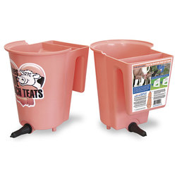 Single Peach Teat Bucket Feeder with Front and Back Option