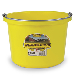 2-Gallon Round Plastic Bucket - Yellow