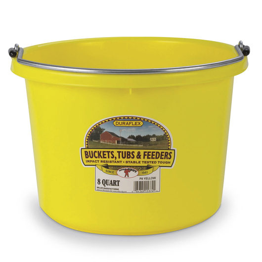 Plastic Bucket - 2 Gallon Round - 11-1/2 in. x 8-3/8 in. - Yellow