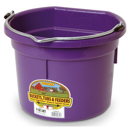 2-Gallon Flatback Plastic Bucket - Purple