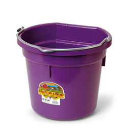 5-Gallon Flat-Back Plastic Bucket - Purple
