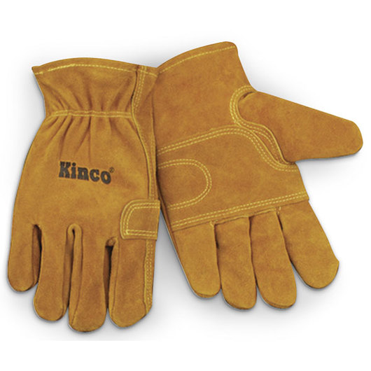 Kinco® Unlined Suede Cowhide Fencing Gloves - Large