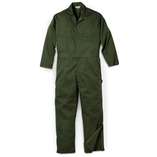 Key Industries' Men's Unlined Twill Coveralls - Loden Green - Small (34/36)