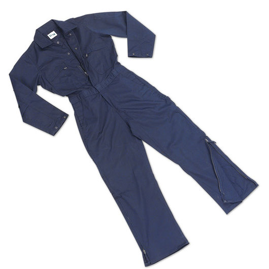 Key Industries' Men's Unlined Twill Coveralls - Navy - Small (34/36)