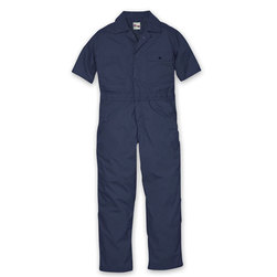 Key Industries Mens Navy Short-Sleeved Lightweight Poplin Unlined Coveralls