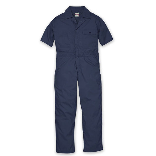 Key Industries' Men's Short-Sleeved Lightweight Poplin Unlined Coveralls - XL (46/48)