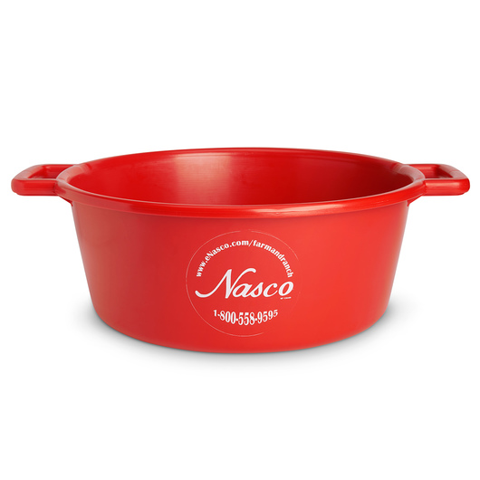5-Gallon Deluxe Plastic Feed Pan - Red