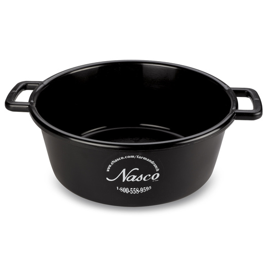 5-Gallon Deluxe Plastic Feed Pan - Black