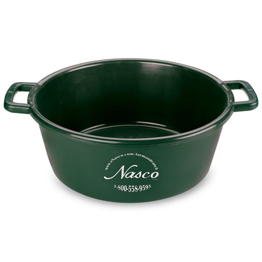 5-Gallon Deluxe Plastic Feed Pan - Green
