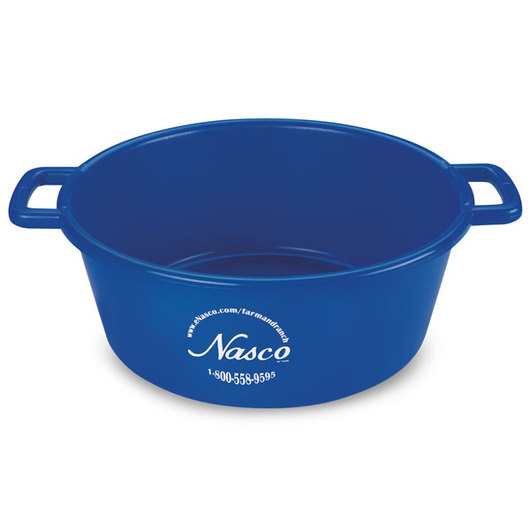 5-Gallon Deluxe Plastic Feed Pan - Blue