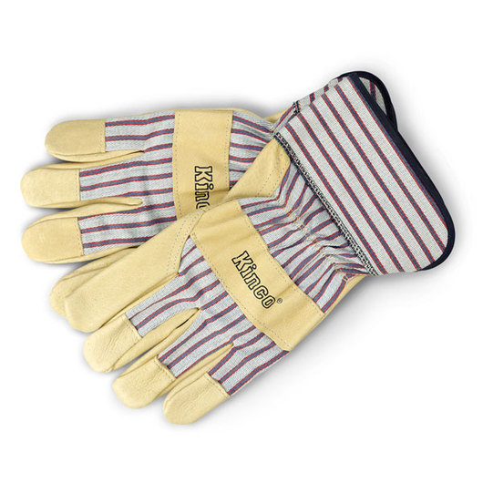 Kinco® Pigskin Palm Unlined Work Gloves with Shirred Elastic Wristband and Cuff - X-Large