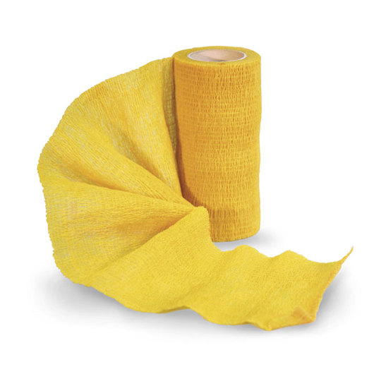 Sureflexx™ Self-Adhesive Bandages - Individual, 4 in. x 5yds. Roll, Yellow