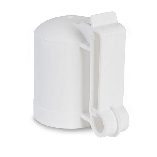 Red Snap'r White T-Post Cap Insulator - White