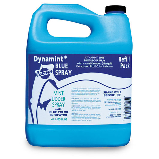 Dynamint® Udder Cream Blue Spray - 1.05-Gallon (4-Liter) Spray Refill
