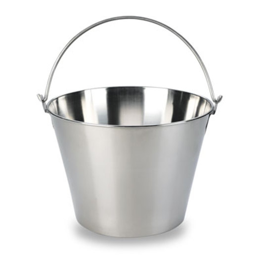 Stainless Steel Dairy Bucket - 9-qt.