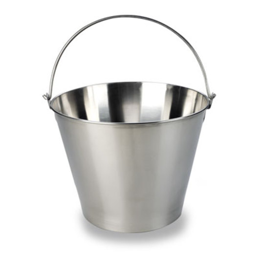 Stainless Steel Dairy Bucket - 13-qt.