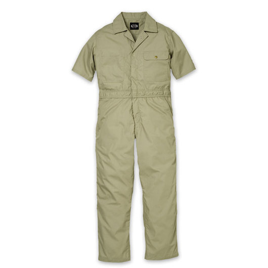 Key Industries' Men's Short-Sleeved Lightweight Poplin Unlined Coveralls - Khaki - XXL (50/52)