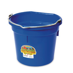 5-Gallon, Flat Back (14-3/4 x 13) Plastic Bucket - Blue