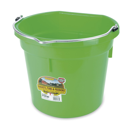 Plastic Bucket - 5-Gallon Flat Back (14-3/4 in. x 13 in.) - Lime Green