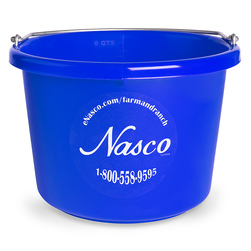 2 Gallon - Round (11-1/2 x 8-3/8) Plastic Bucket - Blue