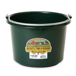 2 Gallon, Round (11-1/2 x 8-3/8) Plastic Bucket - Hunter Green
