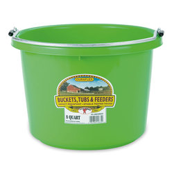 2 Gallon, Round (11-1/2 x 8-3/8) Plastic Bucket - Lime Green