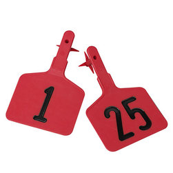 Y-TEX Lone Star One-Piece Large Numbered EZ Tags - Red