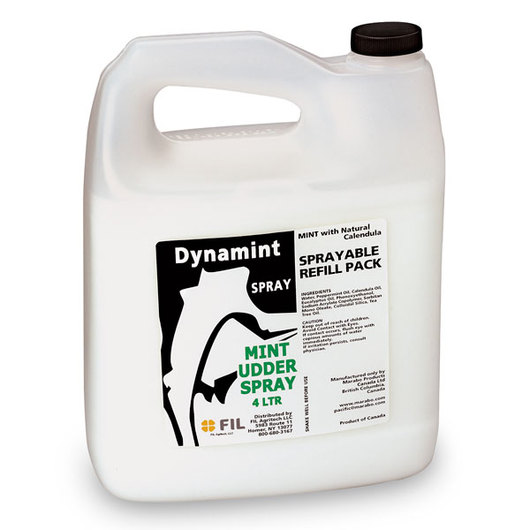 Dynamint® Udder Cream White Spray - 1.05-Gallon (4-Liter) Concentrate Spray Refill