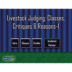 Livestock Judging: Classes, Critiques & Reasons I DVD