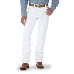 Wrangler® Cowboy Cut® Original Fit Mens White Jeans