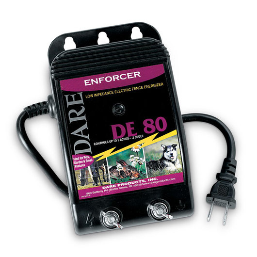Dare Enforcer Low-Impedance 110V Plug-In Fence Energizer - 0.20-Joule Output