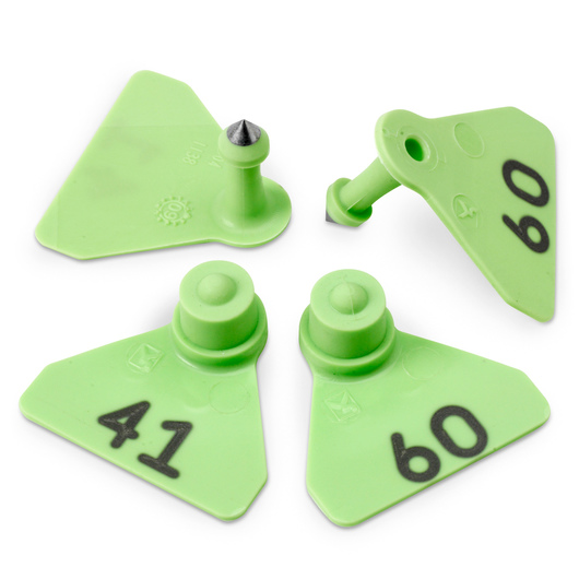 Allflex® Numbered (41-60) Sheep Mini Tags - Green