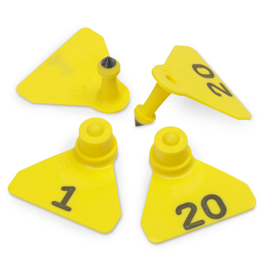 Allflex® Numbered (1-20) Sheep Mini Tags - Yellow