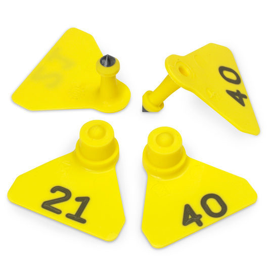 Allflex® Numbered (21-40) Sheep Mini Tags - Yellow