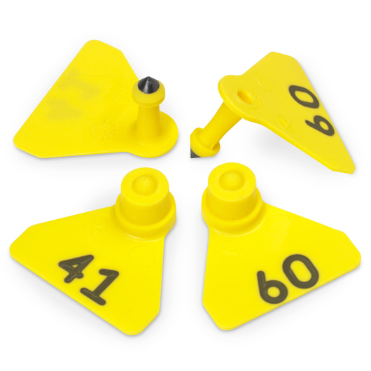 Allflex® Numbered (41-60) Sheep Mini Tags - Yellow