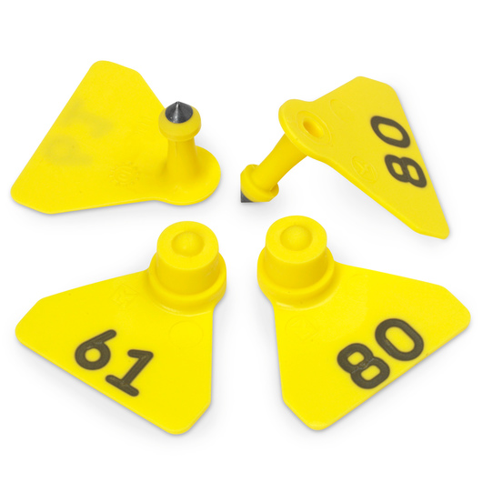 Allflex® Numbered (61-80) Sheep Mini Tags - Yellow