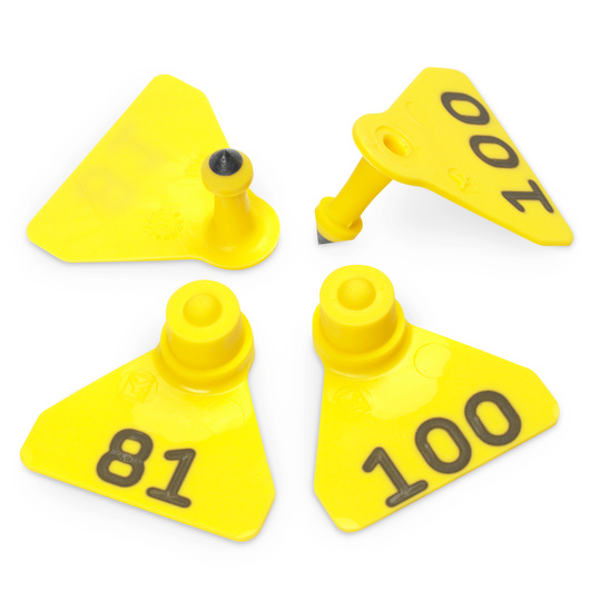 Allflex® Numbered (81-100) Sheep Mini Tags - Yellow