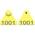 Allflex® Numbered (1,001-999,999) Sheep Mini Tags - Yellow