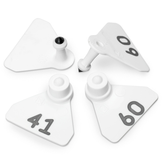 Allflex® Numbered (41-60) Sheep Mini Tags - White