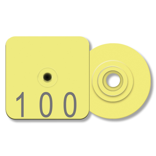Allflex® Numbered Piglet Male Tags - 101-1,000, Yellow