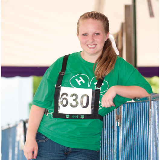 4-H Exhibitor Number Harness