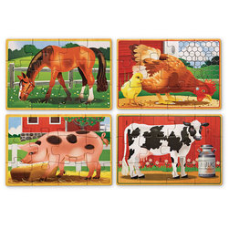 Farm Animal Puzzles in a Box