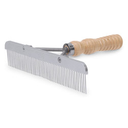 Weaver Show Comb with Wood Handle