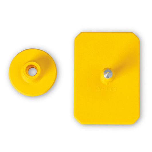 Y-TEX® SwineStar® MAX 2-1/8 in. x 1-1/2 in. Ear Tags (with Studs) - Yellow, Blank