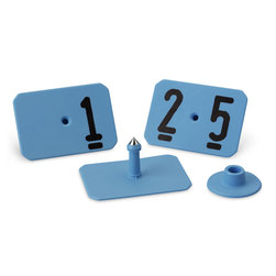 Y-TEX SwineStar MAX Numbered Ear Tags with Studs - Blue