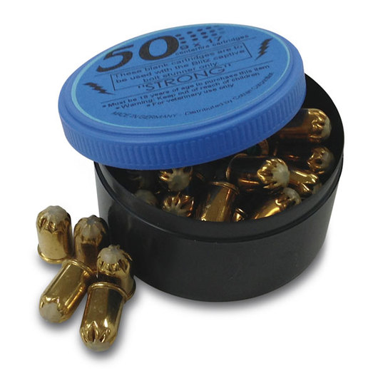 Blitz Centerfire 9 mm Cartridges - Strong, 410 mg (blue)