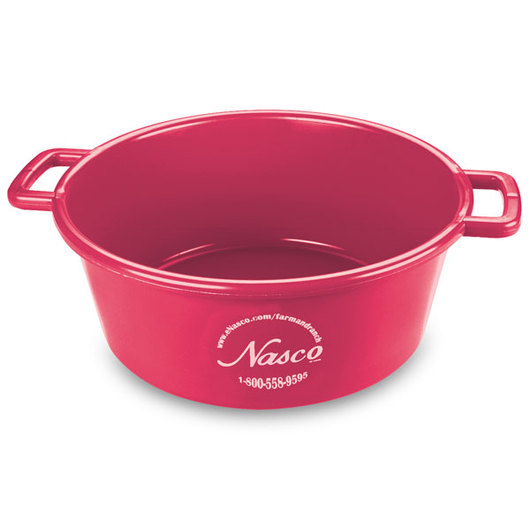 5-Gallon Deluxe Plastic Feed Pan - Pink